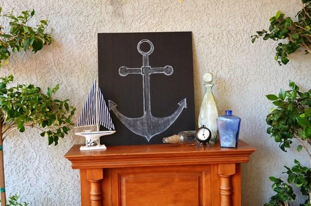 Sams Nautical Baby Shower mantel Decor