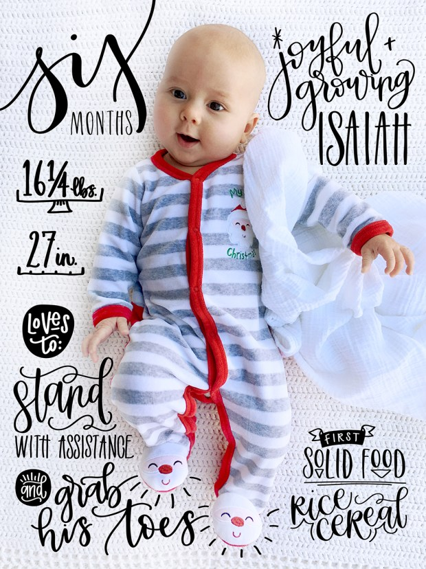 sam-allen-creates-handlettered-isaiah-baby-six-months