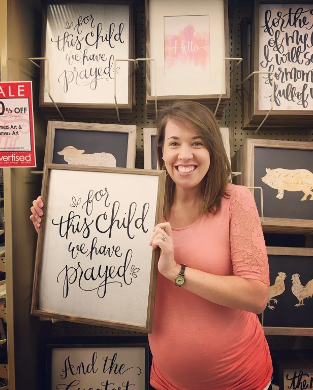Sam Allen Creates for Hobby Lobby - For This Child We Have Prayed
