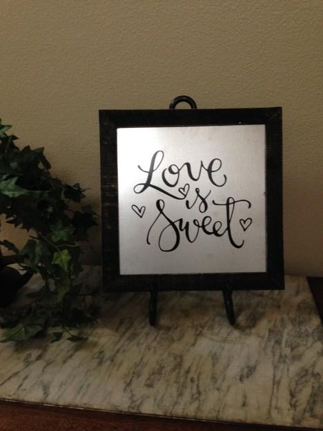 Sam Allen Creates for Hobby Lobby - Love is Sweet -Katie