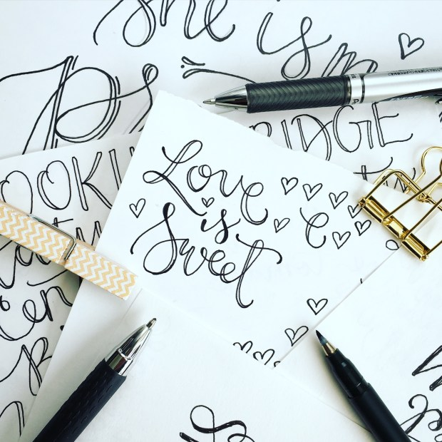 Sam Allen Creates for Hobby Lobby - Love is Sweet sketch