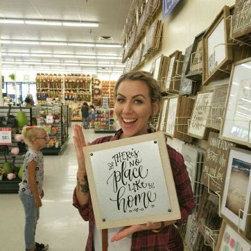 Sam Allen Creates for Hobby Lobby - There's No Place Like Home -Tessa