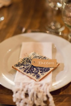 Small Kraft Tags with White Ink, Primrose Lettering Style