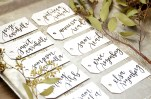 Your New Friend Sam Calligraphy Handwritten Name Tag Wedding Placecards White with Black Iris lettering 2