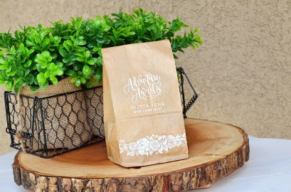 Shabby Chic Tribal Baby Shower Trail Mix Adventure Awaits Favors