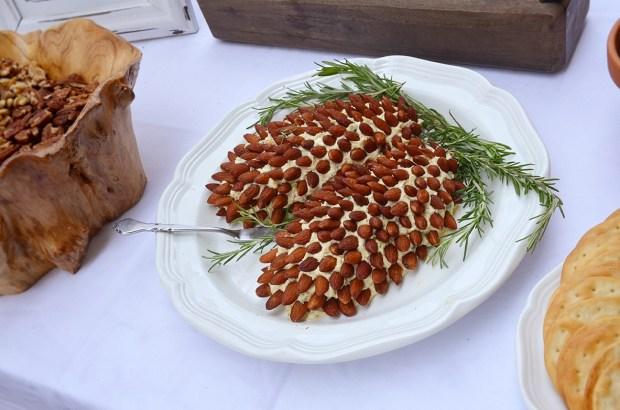 Shabby Chic Woodsy Baby Shower Food Pine Cone Cheeseball