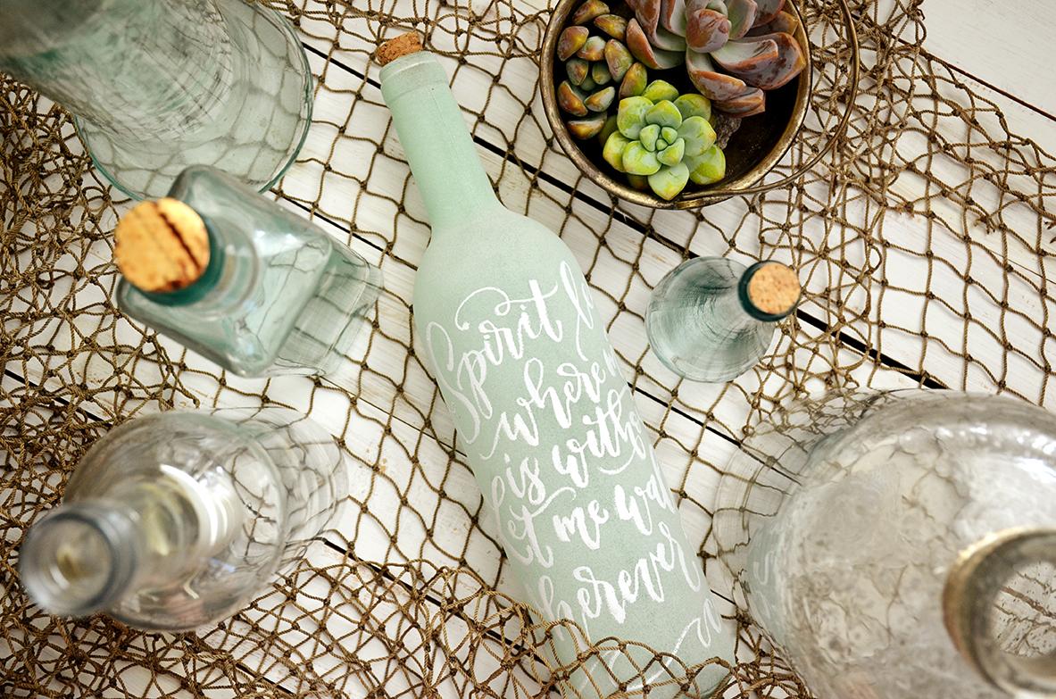 Sam Allen Creates – Isaiah's First Birthday – Under the Sea Birthday Decorations – Handlettered Bottle – Oceans lyrics 1