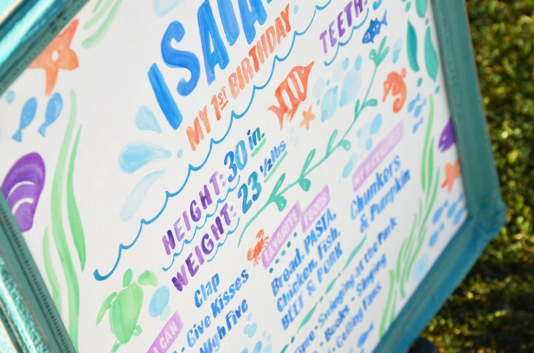 Sam Allen Creates - Isaiah's First Birthday - Under the Sea Birthday One Year Poster 10