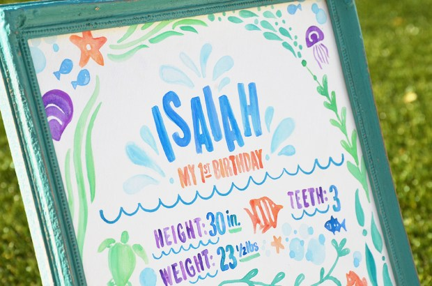Sam Allen Creates - Isaiah's First Birthday - Under the Sea Birthday One Year Poster 7