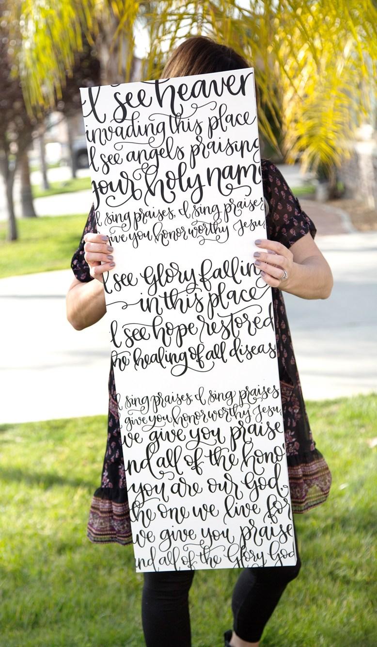 Sam Allen Creates Handwritten Lyrics
