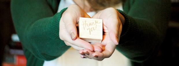 Sam Allen Creates Thank You Stamp