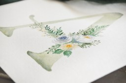 Sam Allen Creates Watercolor Floral Monogram A detail white flowers
