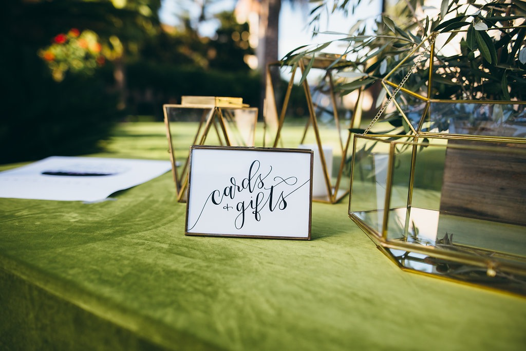 Sam Allen Creates signage for cards gifts by vacay photo