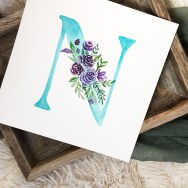 Sam Allen Creates Watercolor Floral Letter