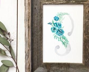 Sam Allen Creates Watercolor Floral Monogram