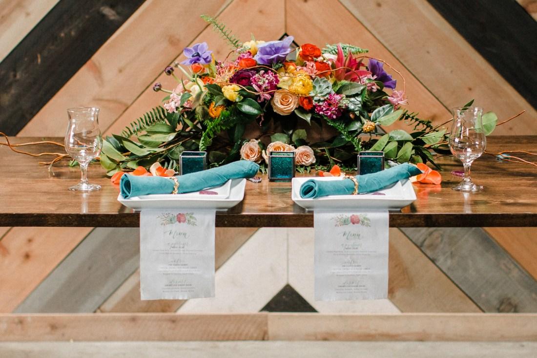 Sam Allen Creates Fabric Wedding Reception Menus - Photography by Danielle Unger