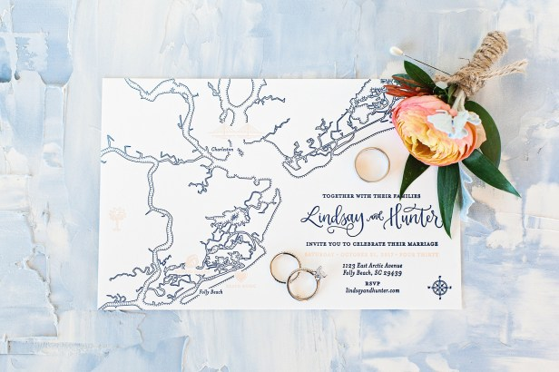 Sam Allen Creates Letterpress Wedding Invitations by Kailtin Scott Photography