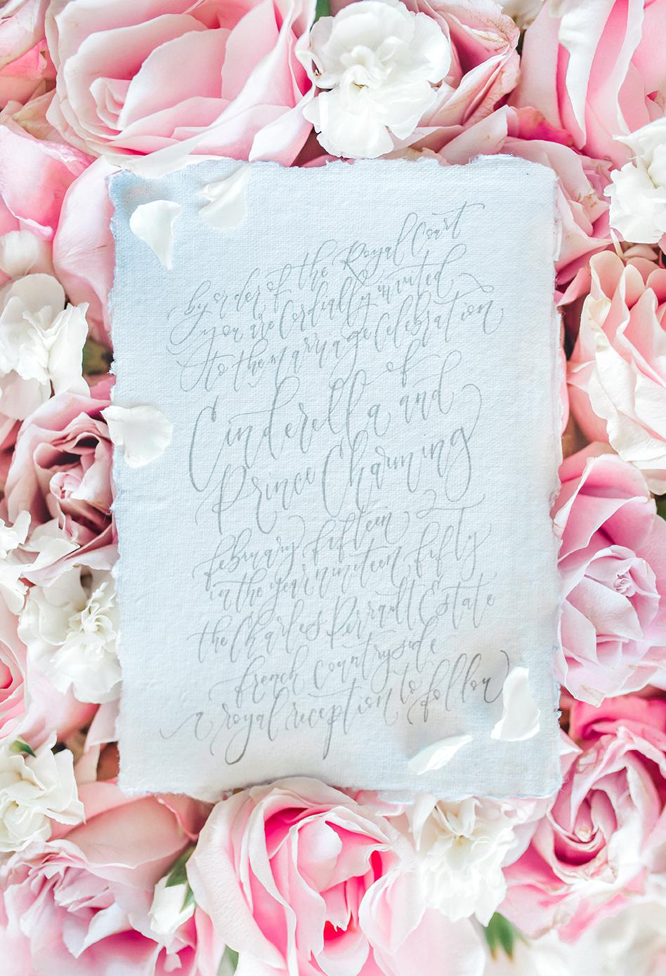 Sam Allen Creates – Disney Inspired Cinderella Wedding Invitation – Invitation Detail