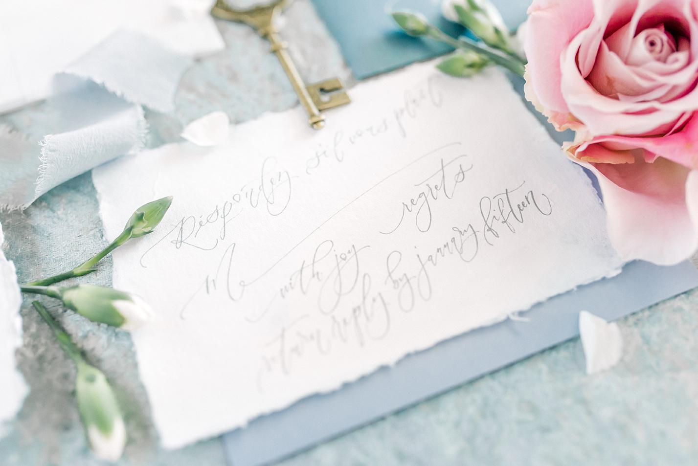 Sam Allen Creates – Disney Inspired Cinderella Wedding Invitation – Reply Card French
