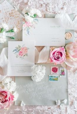 Sam Allen Creates - Disney Inspired Sleeping Beauty Wedding Invitation - Reply Card Detail