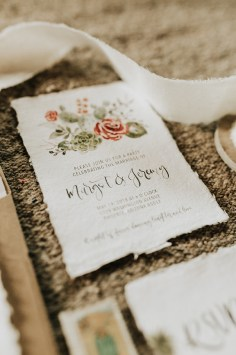 Sam Allen Creates - Watercolor Boho Wedding Invitation - Joshua Tree-Invitation detail - photo by Molly McElenney