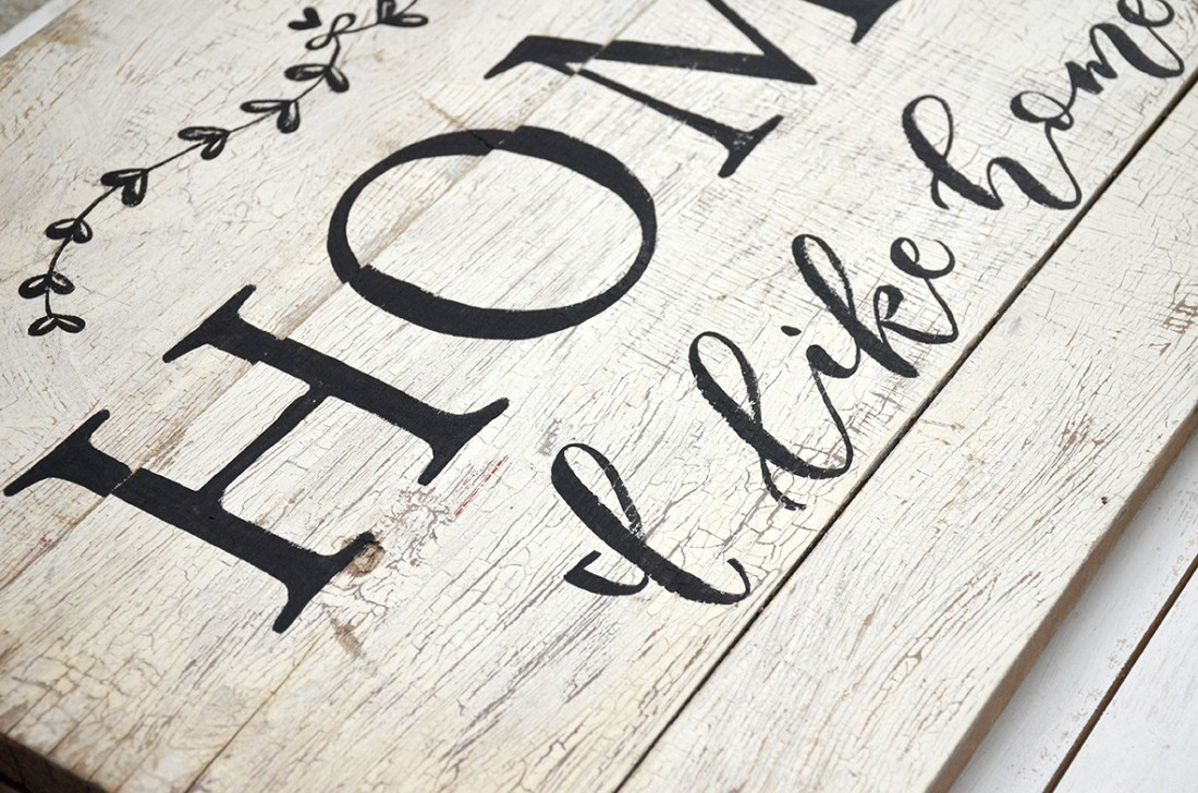 Sam Allen Creates - Handpainted Sign on Reclaimed Wood
