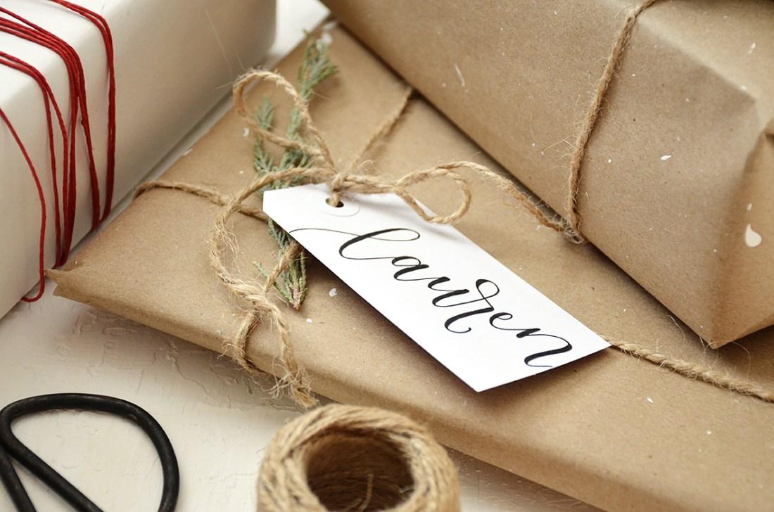 Sam Allen Creates - Handwritten Calligraphy Christmas Gift Tags