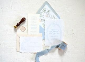 Sam Allen Creates - Handmade Paper Fine Art Wedding Invitation 1