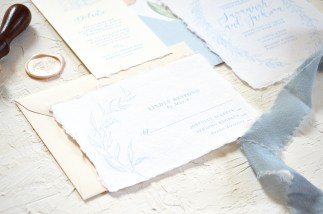 Sam Allen Creates - Handmade Paper Fine Art Wedding Invitation 2
