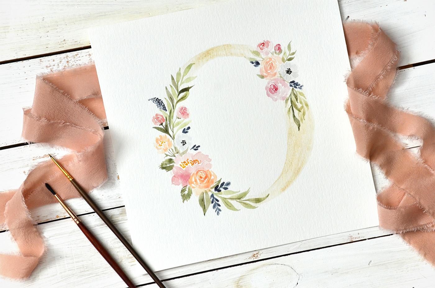 Sam Allen Creates Floral Wreath Monogram, Letter O detail – 2018