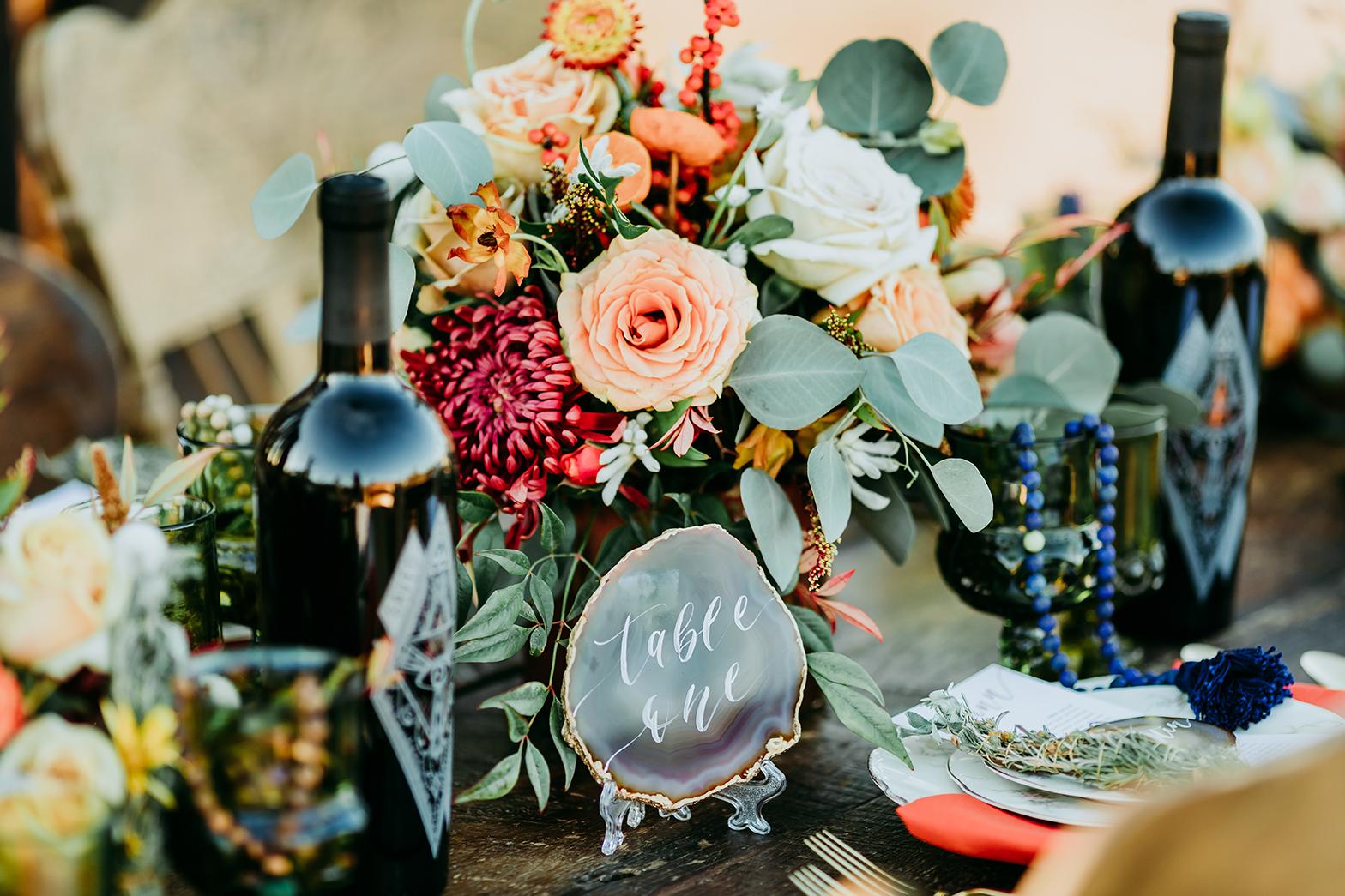 Sam Allen Creates Boho Wedding Agate Table Number ssaa-joshuatree-lisettegatliffphoto(139)