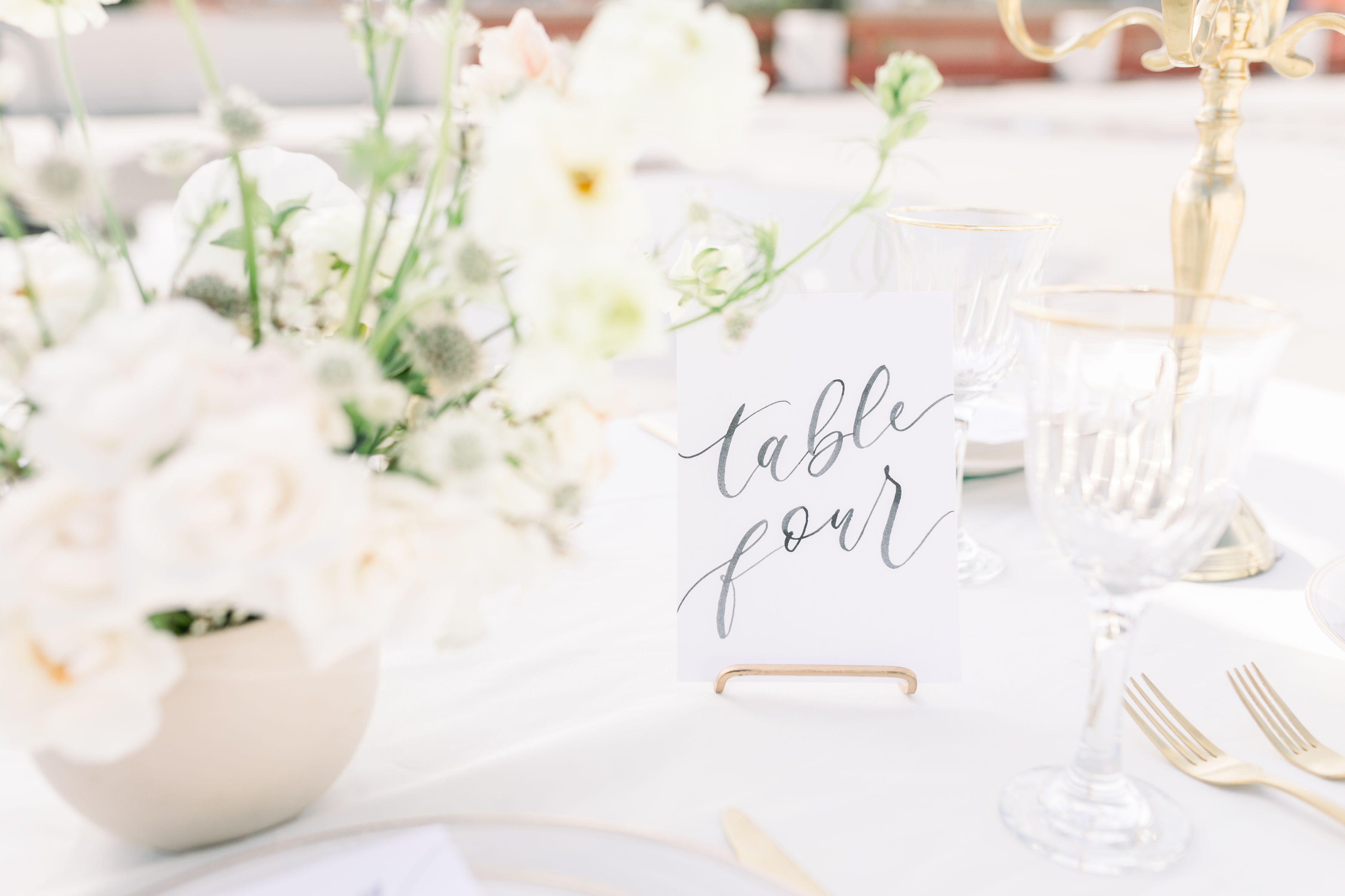 StephanieWeberPhotography-Black Tablescape – Sam Allen Creates, Watercolor Table Number