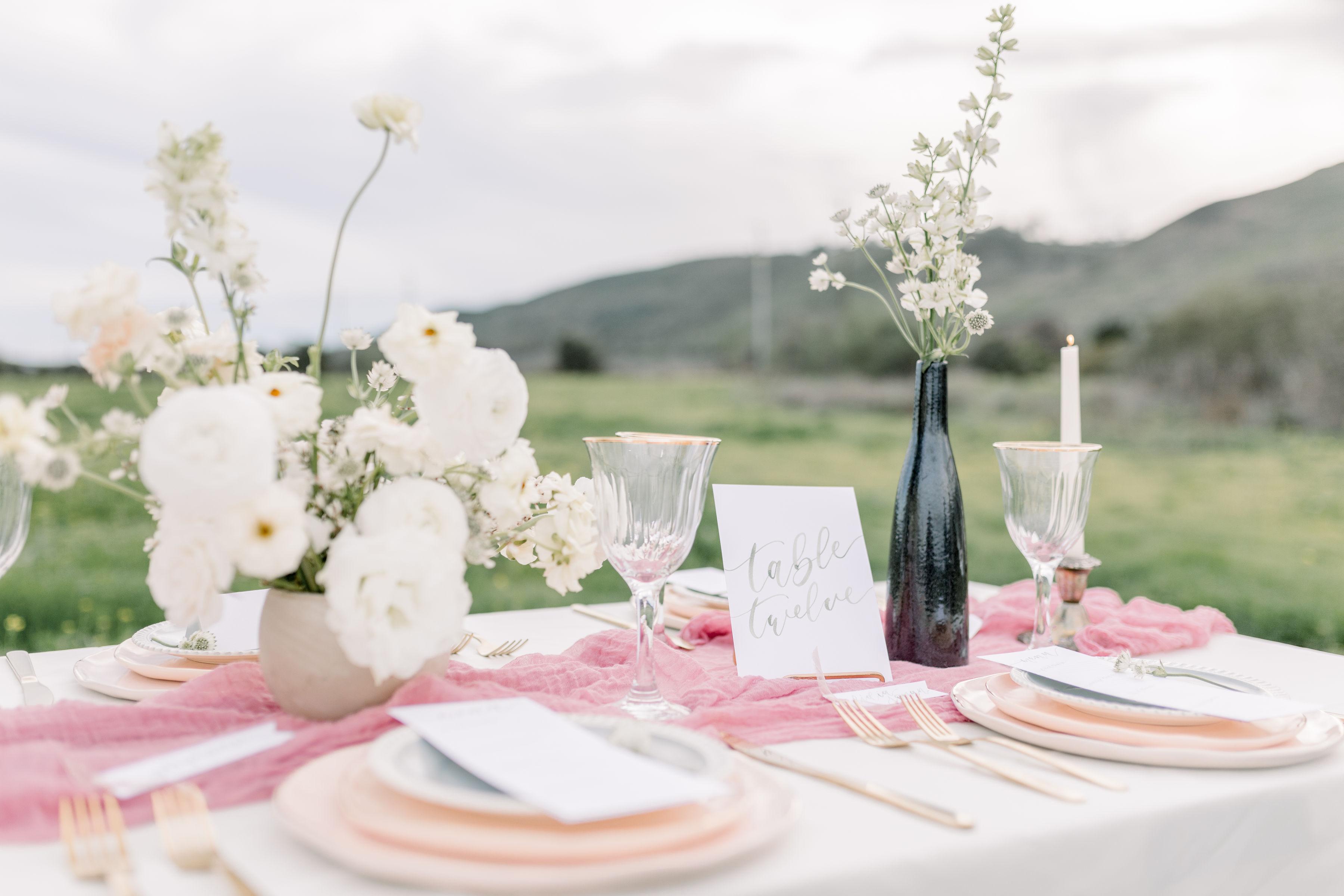 StephanieWeberPhotography-Green Wedding Reception Tablescape, Sam Allen Creates