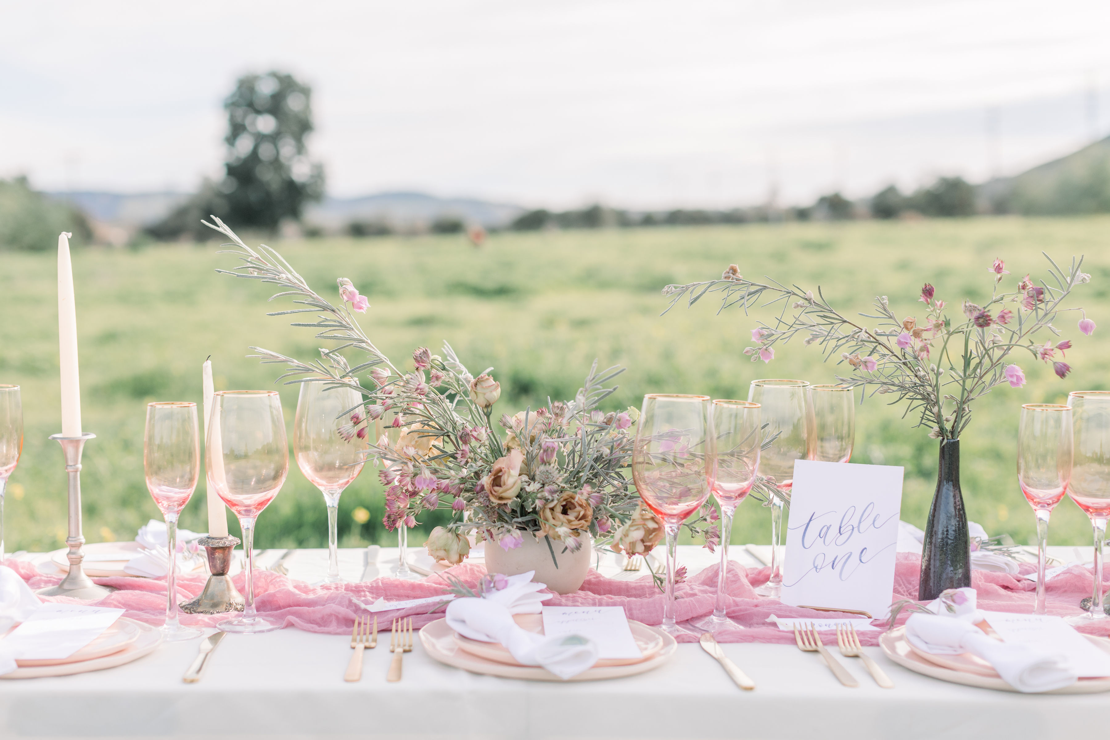 StephanieWeberPhotography-Navy and Pink Wedding Tablescape