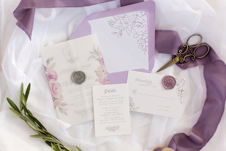 invitation-lavender-and-floral-vellum-wrapped-wedding-invitation-JLP