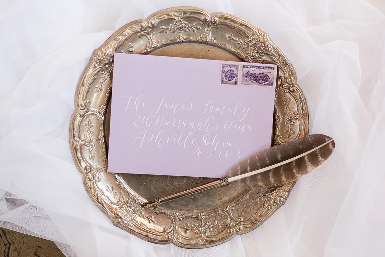 invitation-purple-lavender-envelope-with-white-calligraphy-by-Sam-Allen-Creates-JLP