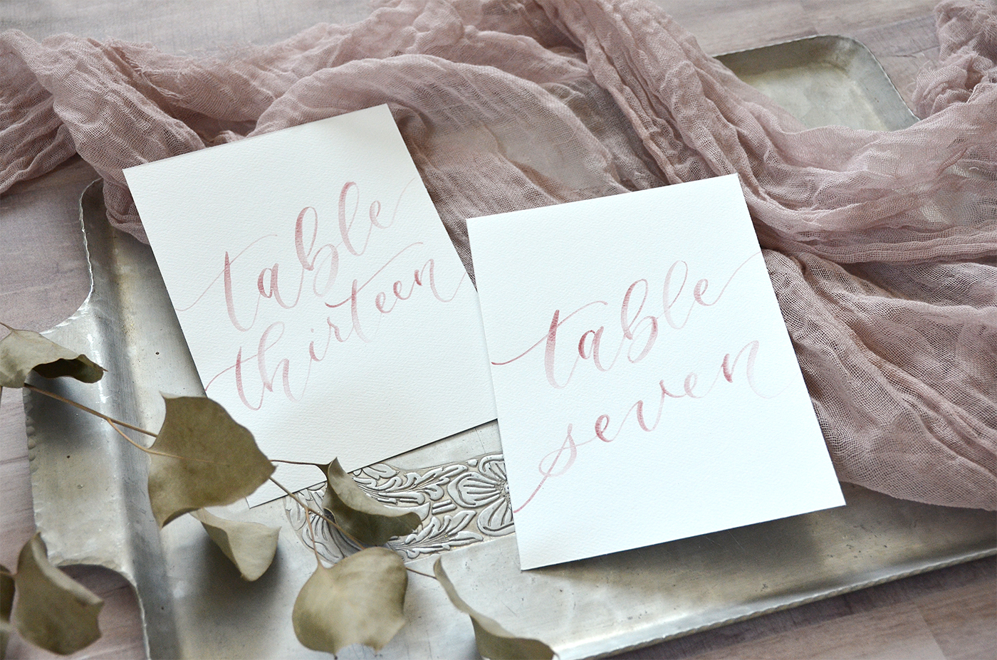 Dusty Rose Watercolor Wedding Table Numbers by YourNewFriendSam on Etsy