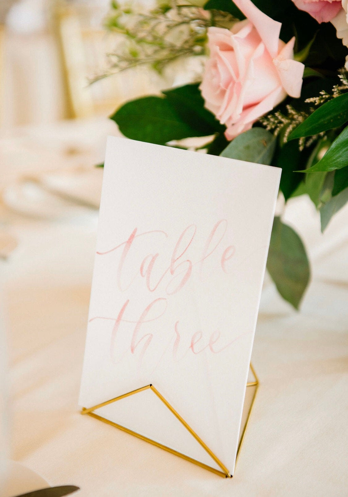 Dusty Rose and Blush Watercolor Table Numbers Olivia Gird Photography 4