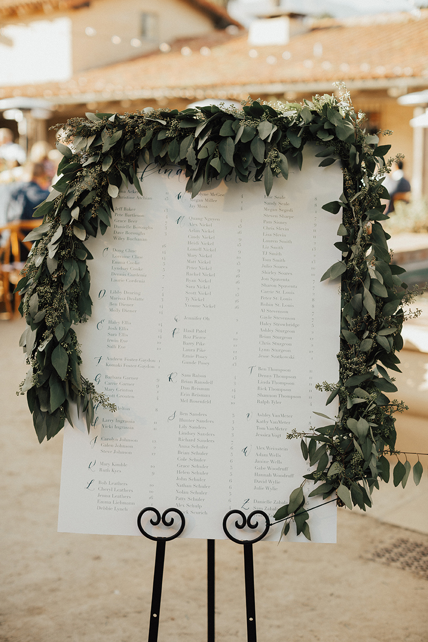 Sam Allen Creates Watercolor Wedding Seating Chart, Heirlume Photography