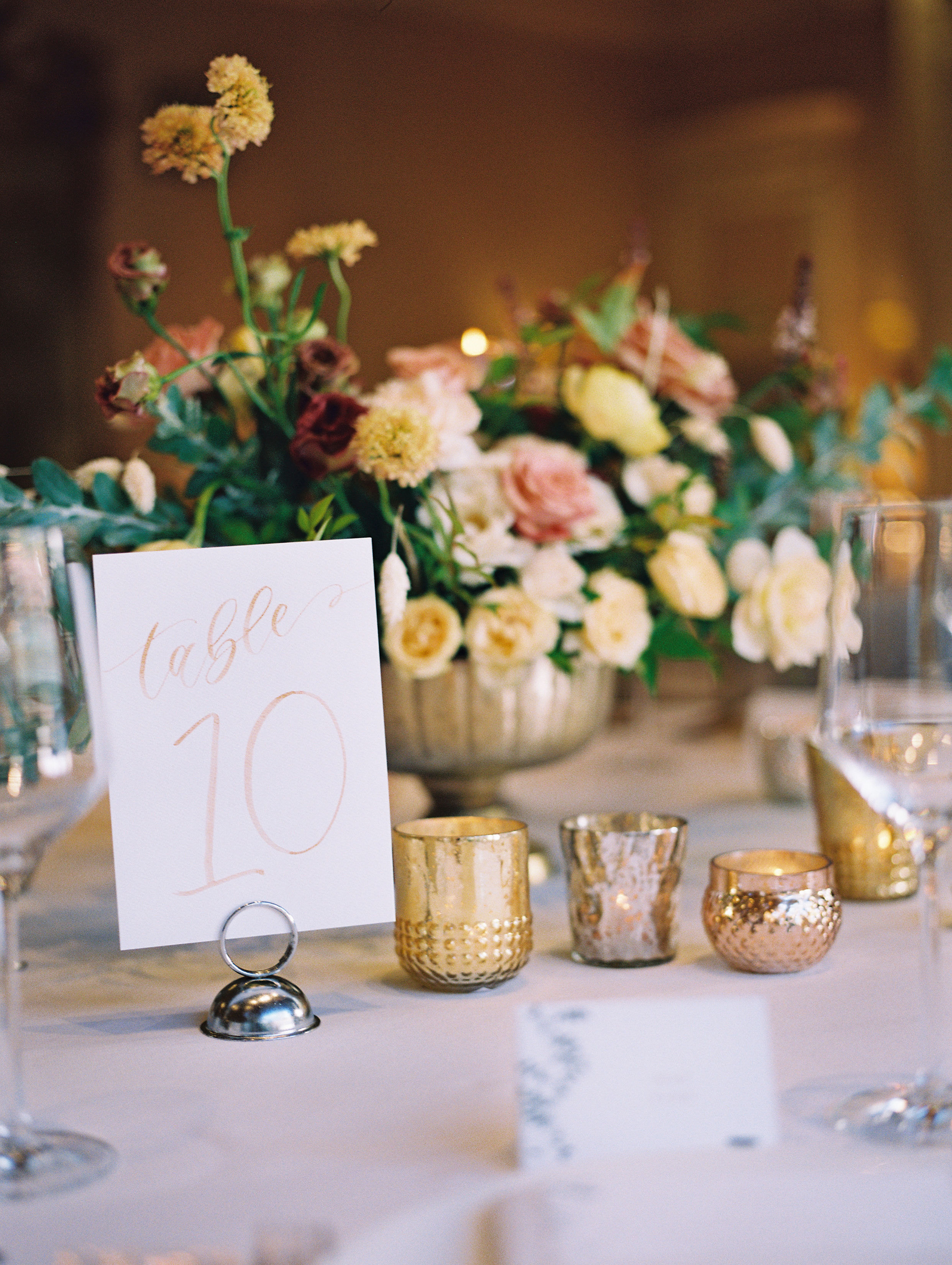 Gold Watercolor Table Numbers, Handpainted by Sam Allen Creates, YourNewFriendSam on Etsy – This Modern Romance Photography