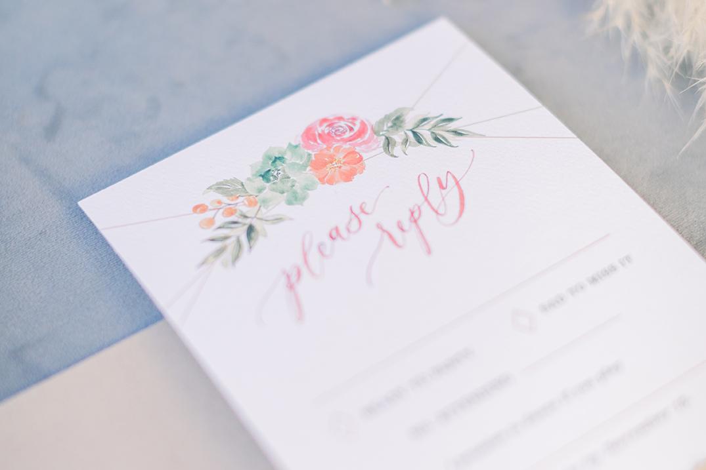 SWP-TheGreenhouse Boho Wedding Inspiration-Sam Allen Creates Wedding Invitation with Succulents RSVP