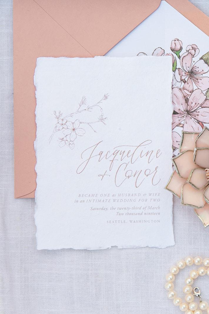 Romantic Cherry Blossom Elopement