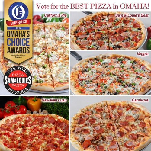 Sam&Louie's Omaha Choice Awards Best Pizza