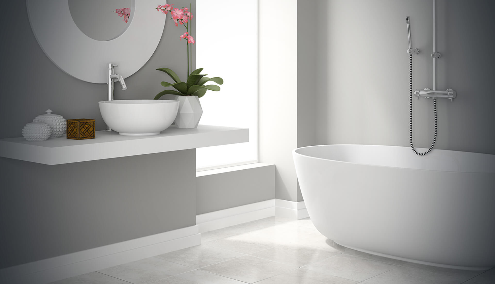 modern bathroom background