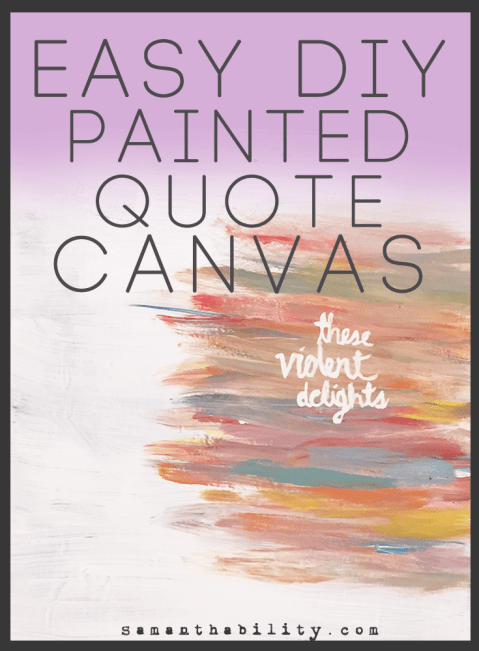 easy diy painted quote canvas