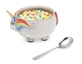 Elwood the Unicorn Cereal Bowl - Uncommon Goods