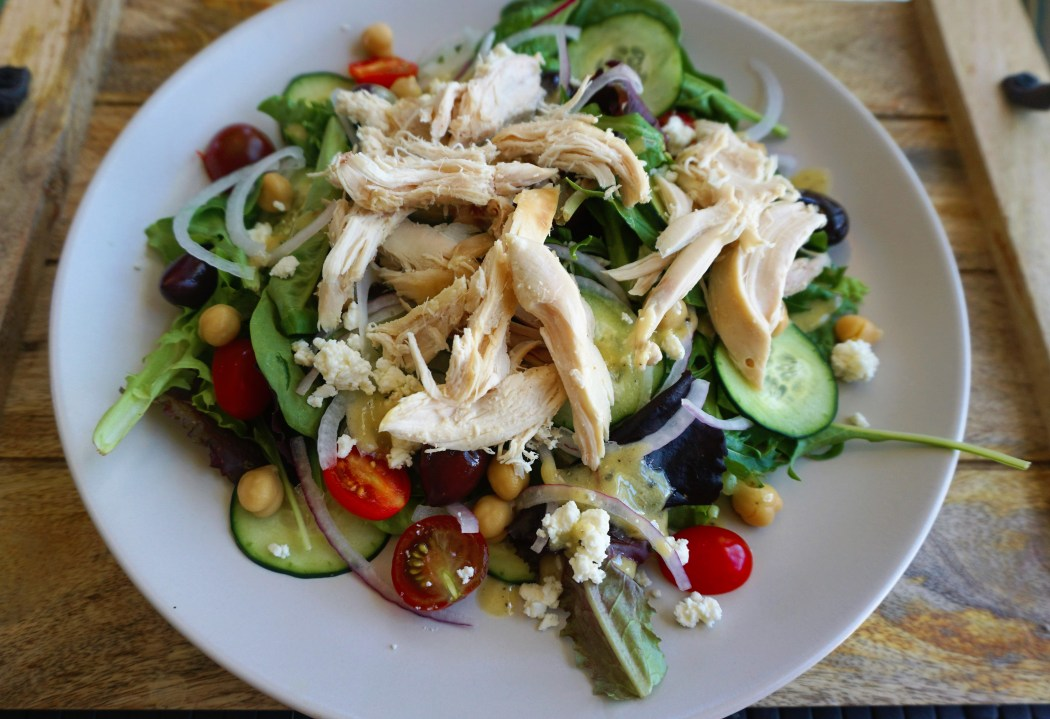 healthy easy Greek Salad chicken homemade