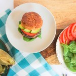 A healthy, delicious, vegetarian Cowboy Black Bean Burger!