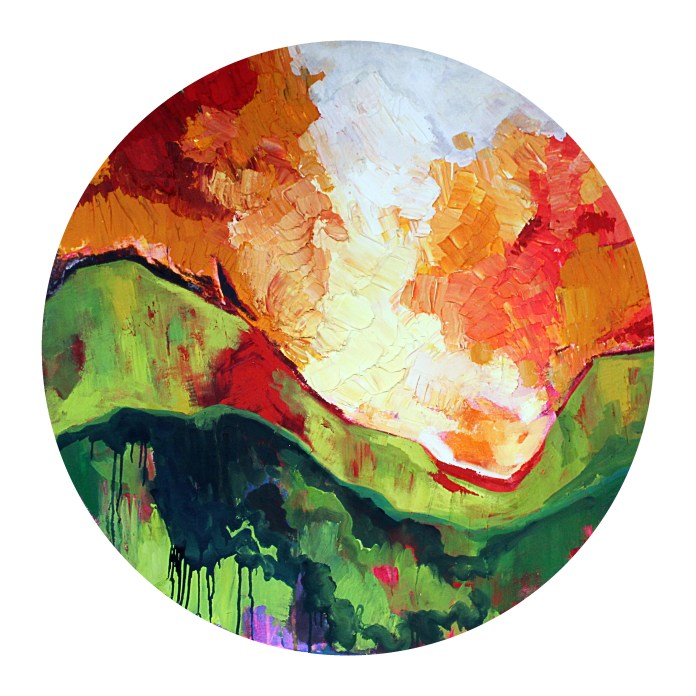 "I am, Because of you - Acrylic on Canvas 48"" Diameter 4800.00"