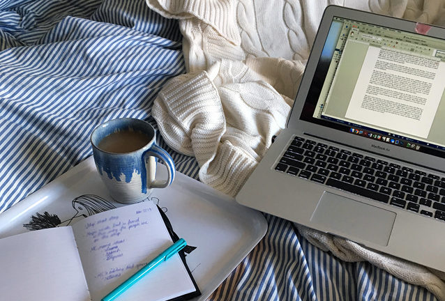 writing-in-bed